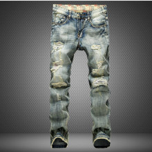 New Men Jeans Hole Ripped Stretch Destroyed Hip Hop Jean Homme Masculino Fashion Design Men's Jean Slim Jeans For Male Pants
