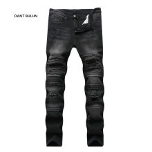 2019 New Fashion Jeans Hip Hop  Moto Mens Designer Clothes New Fashion Distressed Ripped Skinny Denim Biker Jeans Dropshipping