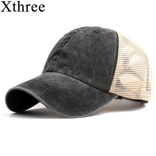 Xthree fashion women's mesh baseball cap for men summer cap snapback Hat for women bone gorra casquette fashion hat