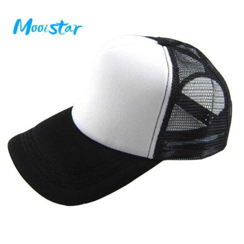 Mooistar #4066D  Unisex Casual Hat Solid Baseball Cap Trucker Mesh Blank Visor Hat Adjustable