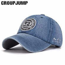 Group Jump High Quality Snapback Cap Demin Baseball Cap Vacation Jean Embroidery Hat For Men Women Boy Girl Cap Gorras Bone