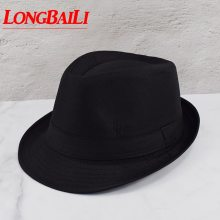 Black Fedora Hats For Men Chapeu Masculino Panama White Trilby Jazz Caps Gangster Hats Free Shipping MEDB003