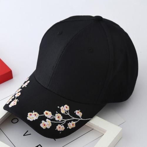 2019 Women Summer Hats Symmetrical Flower Embroidery Built-in insulation Knitted Hats Femme Baseball Cap Adjustable