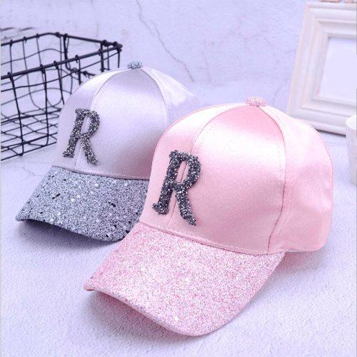 2018 Summer High Quality Women Rhinestone Baseball Caps For Girl Female Adjustable Hip Hop Fashion Sequins Snapback Hats