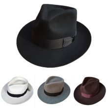 Classic Men's Wool Felt Godfather Fedora Hat - Gangster Mobster Michael Jackson Gentleman Hat  -MANY COLORS