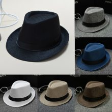 Fashion Summer Cool Panama Wide Brim Fedora Straw Made Indiana Jones Style Hat