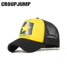 GROUP JUMP Five Star Pattern Caps Men Baseball Cap Summer Mesh Snapback Caps Women Men Sport Cap Breathable Bone Gorras
