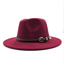 2019 New Winter Autumn Wool Women Men Belt Ladies Fedoras Top Jazz Hat European American Round Caps Bowler Hats 55-58cm