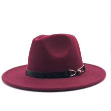 New Women Men Wool Vintage Gangster Trilby Felt Fedora Hat With Wide Brim Gentleman Elegant Lady Winter Autumn Belt Jazz Caps