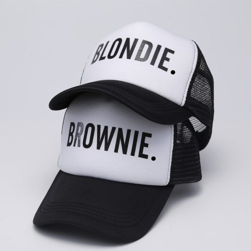 BLONDIE BROWNIE Baseball caps Trucker Mesh cap Women Gift For Girlfriends Her High Quality Caps Bill Hip-Hop Snapback Hat Gorras