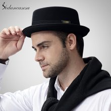 Sedancasesa 2019 Hat Fashion 100% Australia Wool Men's Fedora Hat with Pork Pie Hat for Classic Church Wool Felt Hat FM017028
