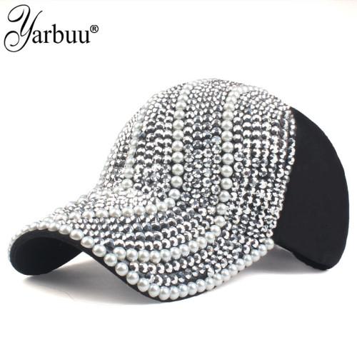 [YARBUU]new brand Baseball caps for women rhinestone hat Lady Girl cap black colour snapback cap Casquette hats Adjustable Caps