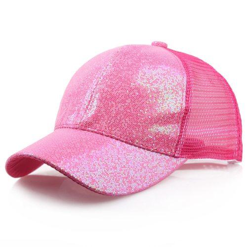CHAMSGEND 2019 Ponytail Baseball Cap Women Girl Messy Bun Snapback Summer Mesh Hats Casual Sport Sequin Cap Summer Hat Sun Caps