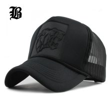 [FLB] 2019 Hip Hop Black leopard Print Curved Baseball Caps Summer Mesh Snapback Hats For Women Men casquette Trucker Cap
