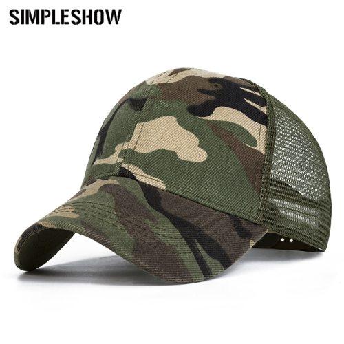 2019 Camo Baseball Caps Men Summer Mesh Cap Tactical Camouflage Hat For Men Women High Quality Bone Masculino Dad Hat Caps