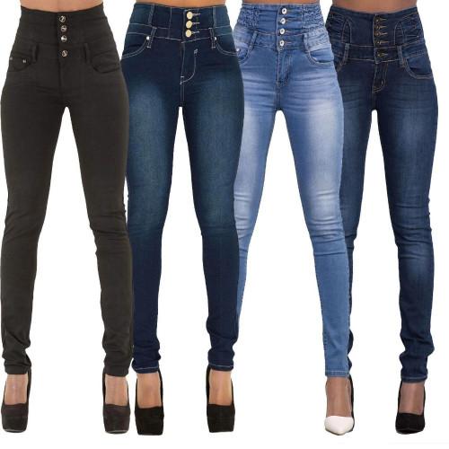 WENYUJH New Spring Summer Woman skinny jeans Denim Pencil Pants Top Brand Stretch Jeans High Waist Pants Women High Waist Jeans