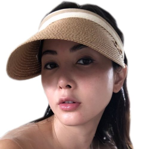 2019 New Women's Sun Hats Handmade Straw Visor Caps Parent-Child Summer Hat Empty Top Beach Hat