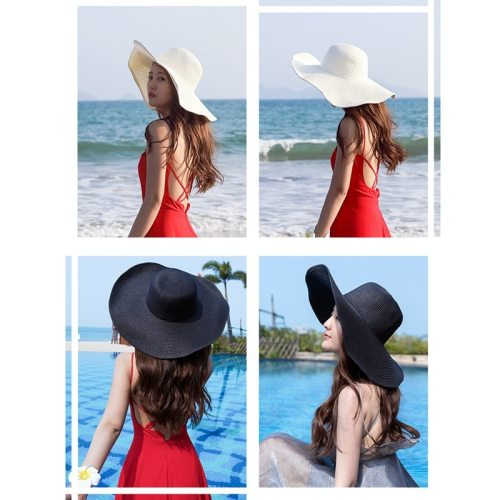 2019 Summer Fashion Floppy Straw Hats Casual Vacation Travel Wide Brimmed Sun Hats Foldable Beach Hats For Women With Big Heads