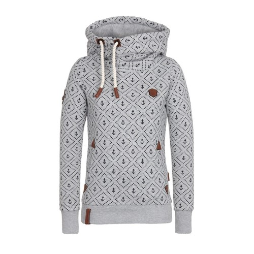 Manubeau New Arrival Hoodies Fashion Women Sea Anchor Print Sweatshirts Casual Plus Size 5XL Kpop Hoodies Basic Sport Hoodies