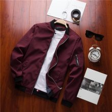 Dropshipping Spring New Men's Bomber Zipper Jacket Male Casual Streetwear Hip Hop Slim Fit Pilot Coat Men Clothing US Size