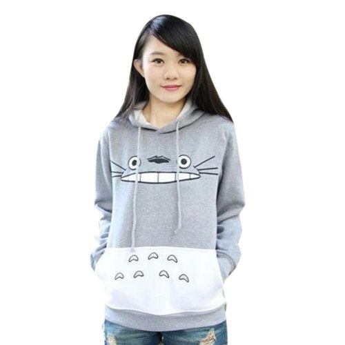 Hot Sale Autumn Fashion Men Women Cartoon Totoro Hoodie Sweatshirt Unisex Pullover Sweatshirt Spring Casual Coat Hoodies Hooded