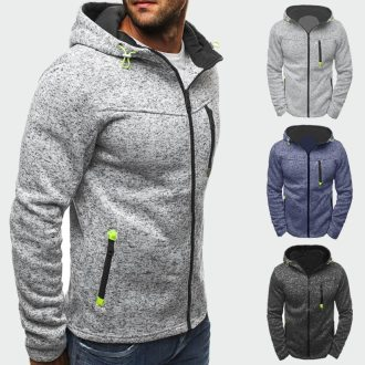Spring Autumn Men's Jackets Hooded Coats Casual Zipper Sweatshirts Male Tracksuit Fashion Jacket Mens Clothing Outerwear ML032