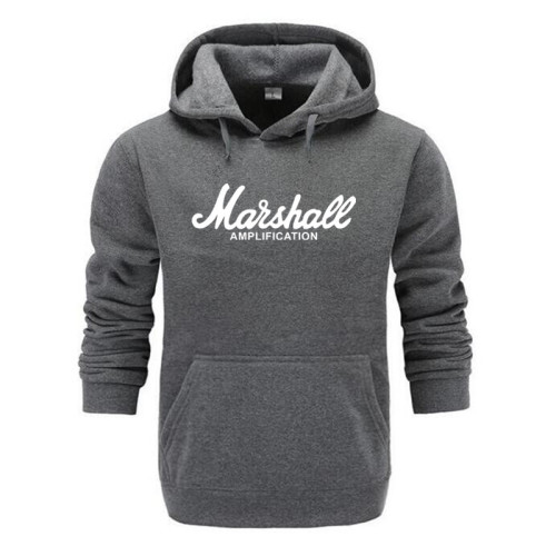 2019 New Spring Autumn Marshall Hoodie Men Amplification Hoodies Mens Slim Hooded Sweatshirt Hip Hop Brand Streetwear Clothes