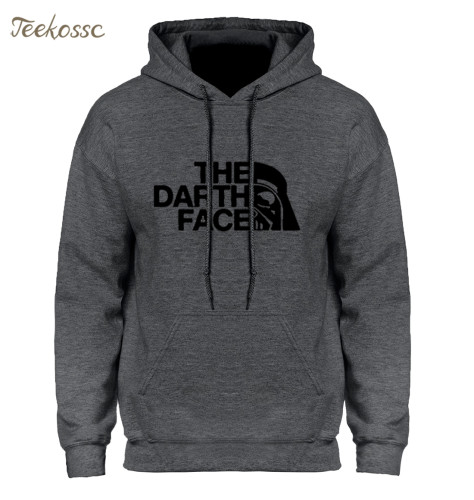 Star Wars Darth Face Hoodie Hoodies Sweatshirt Men 2018 New Spring Autumn Hooded Faces No Face Streetwear Homme Black Gray Hoody