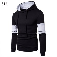 Casual Mens Hoodies Streetwear Hip Hop Long Sleeve Hoodie Men Black White Bodybuilding Sweatshirts Male Sportswear Hoody Jacket