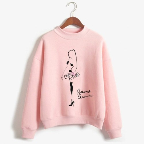 Ariana Grande Sweatshirt No Tears Left To Cry Hoodie Women Cartoon Print Harajuku God Is A Woman Sweatshirts Pullover Warm Tops