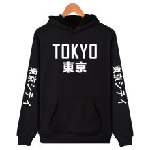 2019 New Arrival Japan Harajuku Hoodies Tokyo City Printing Pullover Sweatshirt Hip Hop Streetwear 4XL Plus Size Clothing