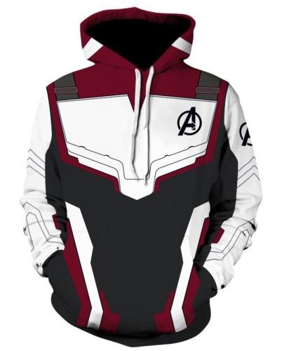 The Avengers 4 Endgame Quantum Realm Cosplay Costume Hoodies Men Hooded Avengers Zipper End Game Sweatshirt Jacket
