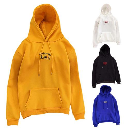 Casual Trend Harajuku Student Loose Fleece Lined Hooded Sweatshirts Men And Women Couple Long-Sleeved Hoodies Sweatshirt