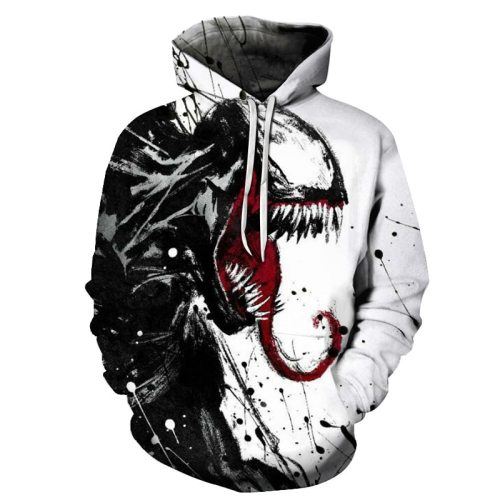 Hot Sale New arrive popular Marvel movie venom 3D Printed Hoodies Men Women Hooded Sweatshirts hip hop Pullover Pocket Jackets