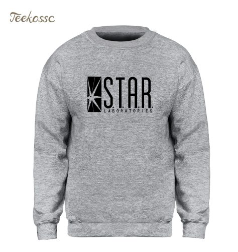 Star Labs Sweatshirt Superman Series Hoodie Men Jumper The Flash Gotham City Comic Books Black Sweatshirts Fleece Streetwear XXL