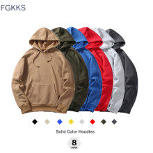 FGKKS New Autumn Fashion Hoodies Male Warm Fleece Coat Hooded Men Brand Hoodies Sweatshirts EU Size