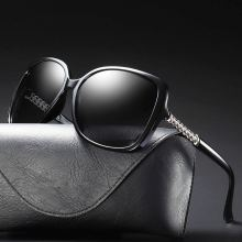 Ladies Sunglasses Uv400 Eyewear Polarized Luxury Brand Women Shades Vintage Glasses Driving Retro Oversized Fashion Female Black