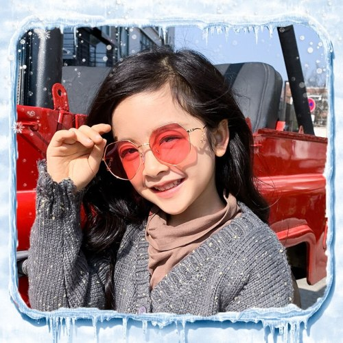 High Quality Children Sunglasses Uv400 Eyewear Polarized Girls Red Glasses Brand Designer Cute Vintage Shades Fashion Kids Retro