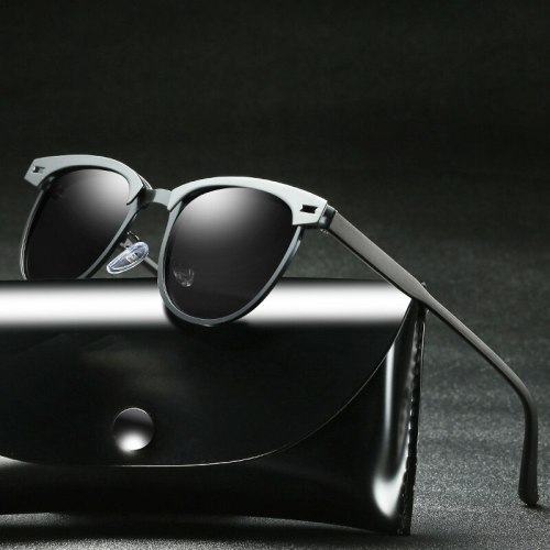 Sunglasses Men Polarized Eyewear Uv400 Glasses For Driver Half Frame Shades For Women Vintage Retro Polar Fashion 2019 Designer