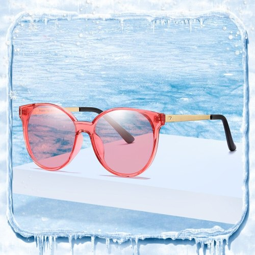 Girls Sunglasses Brand Designer Polarized Eyewear Uv400 Red Lens Vintage Glasses High Quality Fashion Shades Polar Cat's Eye Tac