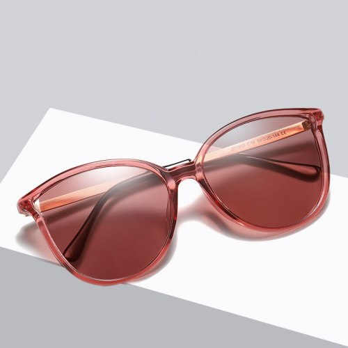 Sunglasses For Women Polarized Eyewear Uv400 Luxury Design Vintage Cat's Eye Shades Retro Red Lens Glasses Driving Fashion Polar