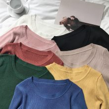 sweater women pullover slim o-neck warm sweaters knitted korean jumper fashion women clothes pull femme poleras sueter 2019