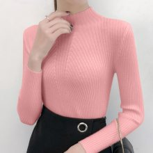 Turtleneck Women Sweater Ladies Slim Autumn Winter Knitted Femme Tops High Elasticity Soft Female Long Sleeve Pullovers Sweater