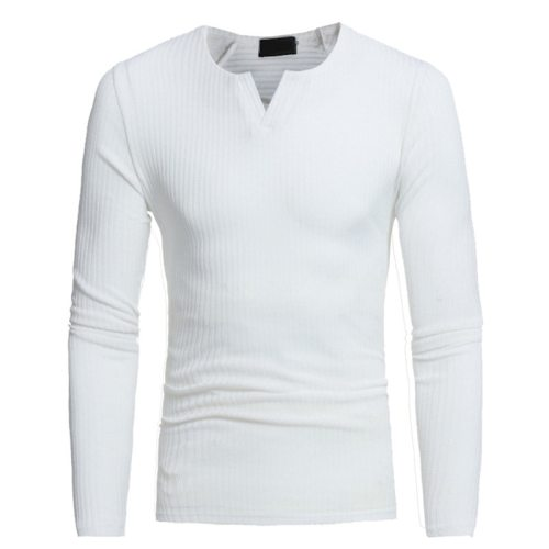 Helisopus Men V-neck Sweaters Long Sleeve Pullover Stretch Shirts Casual Jumper Men 2018 Autumn Winter Knitting Sweater