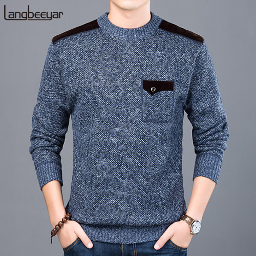 2019 New Fashion Brand Sweater For Mens Pullovers Slim Fit  Jumpers Knitwear O-Neck Autumn Korean Style Casual Clothing Male