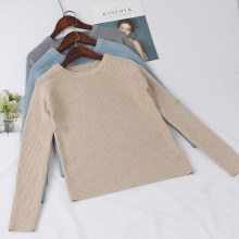 GIGOGOU Basic High Quality Thick Knitted Sweater Autumn Winter Warm Female Pullover Sweater Top Soft Long Sleeves Female Jumper
