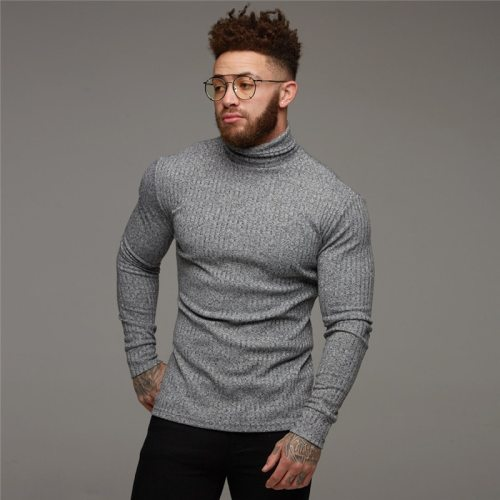 New Fashion Winter Sweater Men Warm Turtleneck Mens Sweaters Slim Fit Pullover Men Classic Sweter Men Knitwear Pull Homme