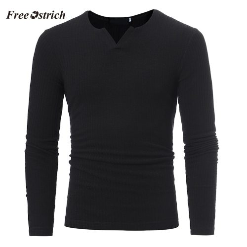 Free Ostrich Men's Slim Sweaters Casual V-neck Sweaters For  Autumn Winter Men's Athleisure Tops Fashion Blouse Hot Sales