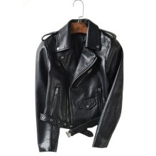 With Belt Autumn Women Leather Jacket 5 Colors Moto Biker Asymmetric Zipper Female Faux Leather Coat Outwear High Quality