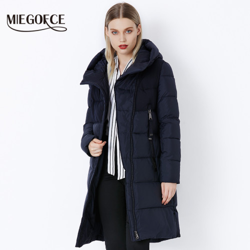 MIEGOFCE 2019 Winter Women's Jacket Coat Windproof Warm Women Parkas Thickening Cotton Padded Female Jacket Brand New Collection
